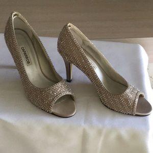Caparros Beaded Open-Toe Shoe Size 9